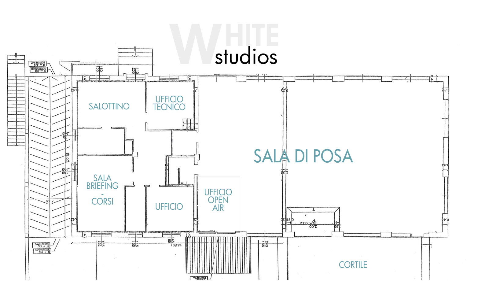 WHITE studios pianta
